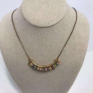 Stella dot gold multi color necklace